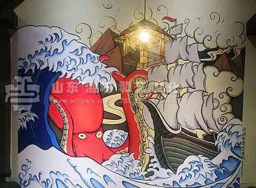 老友炭烧餐馆壁画