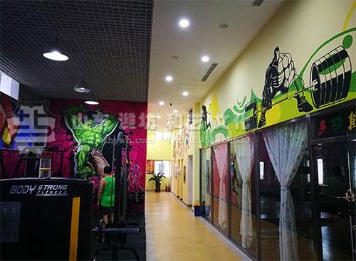 潍坊高新区金鳞游泳健身俱乐部手绘壁画