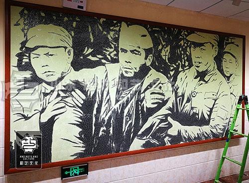滨海红色教育基地文化墙