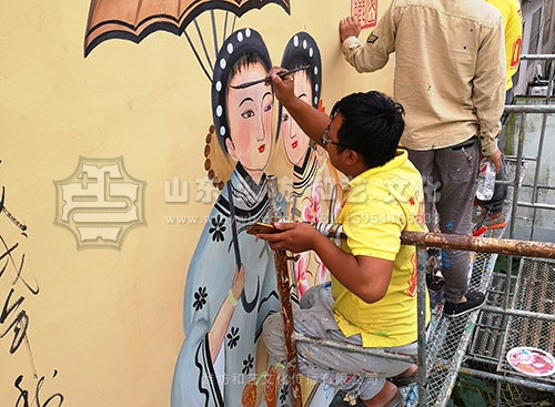 潍坊手绘壁画